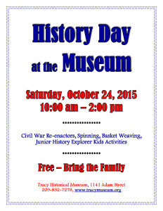 History Day flier - October 24 2015