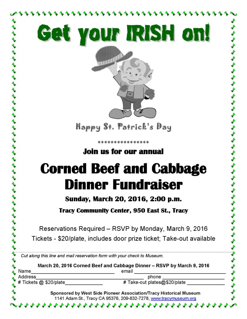 WSPA Corned Beef Cabbage Dinner March 20 2016